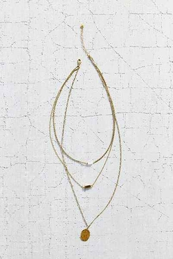 Urban Outfitters - For Keeps Crystal Layering Necklace