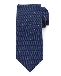 Valentino  - Neat V-Print Textured Silk Tie