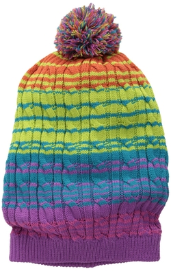 Muk Luks - Candy Coated Multi Striped Beanie Hat
