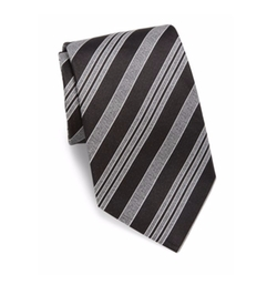 Giorgio Armani  - Multi-Striped Slim Silk Tie