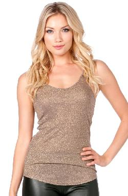 Miss Me  - Womens Metallic Cami Top