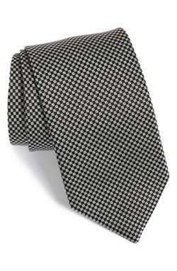 David Donahue - Check Silk Tie