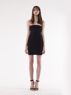 Yves Saint Laurent - Black Stretch Tube Dress