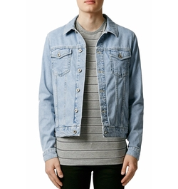 Topman - Washed Denim Jacket