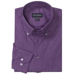 Scott Barber - James Solid Melange Shirt
