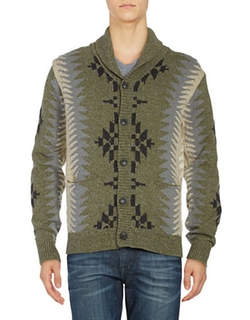 Lucky Brand - Geometric Knit Cardigan