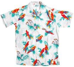 Ragstock - Hawaiian Parrot Print Aloha Shirt