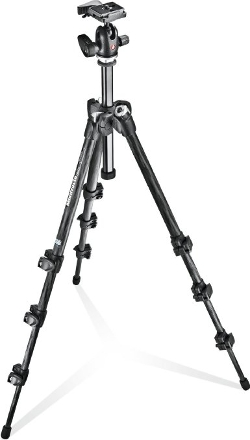 Manfrotto - 4 Section Carbon Tripod Kit With Quick Release Ball Head