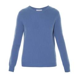 Valentino   - Crew-Neck Ribbed-Knit Sweater