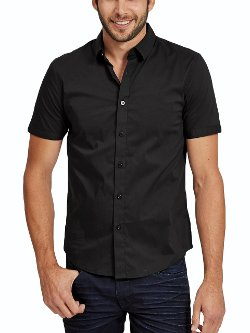 Guess  - Short Sleeve Classic Stretch Super Slim Fit Shirt