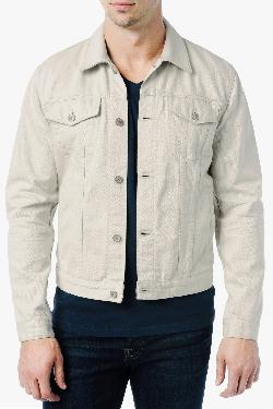 7forallmankind - JEAN JACKET IN WHITE DENIM