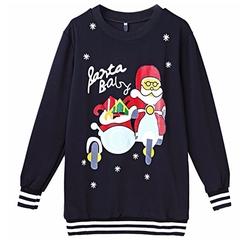 Tobyak Dresses - Christmas Letter Santa Print Sweater