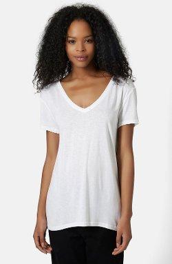 Topshop - Jersey V-Neck Tee Shirt