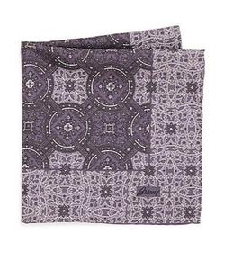 Brioni  - Paisley & Plaid Silk Pocket Square