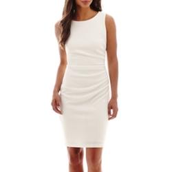 Bisou Bisou - Side-Ruched Textured Sheath Dress