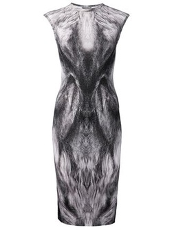 Alexander Mcqueen   - Fox Fur Print Dress