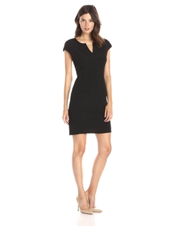 Lark & Ro - V-Neck Sheath Dress