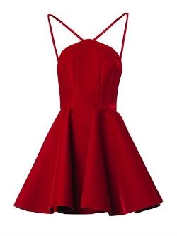 Emilio De La Morena - V-strap Velvet Skater Dress