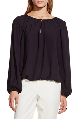 Vince Camuto - Shirred Neck Peasant Blouse