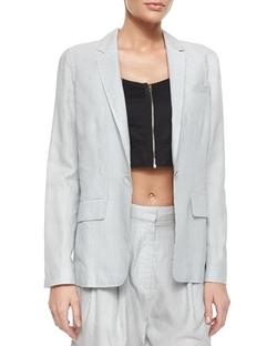 Rag & Bone - Chatham Striped One-Button Blazer