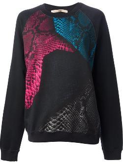Christopher Kane - Python skin patch print sweatshirt