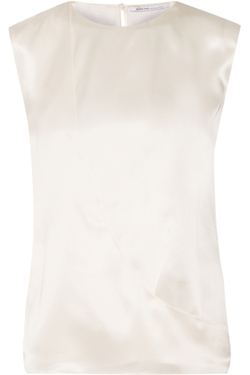Agnona - Wrap-Effect Silk-Satin Top