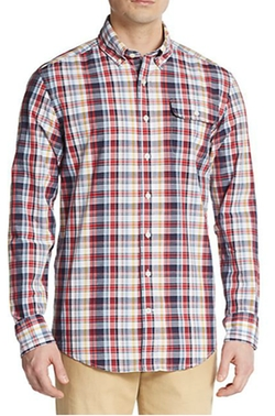 Michael Bastian - Plaid Cotton Sportshirt