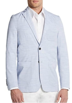 Report Collection  - Tick-Weave Cotton Blazer
