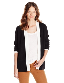 Jones New York - Long Sleeve Open Front Cardigan