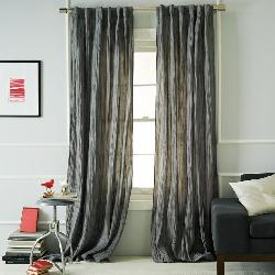 West Elm - Stella Curtain - Gray Stone