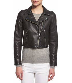 Isabel Marant - Barry Cropped Leather Moto Jacket