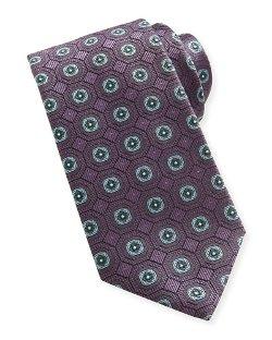 Brioni   - Geo-Medallion Silk Tie