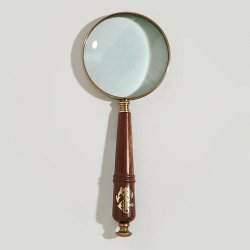 World Market - Wood and Brass Anchor Magnifying Glass