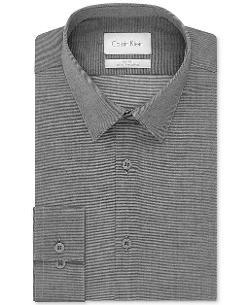 Calvin Klein  - Platinum Rock Textured Solid Dress Shirt