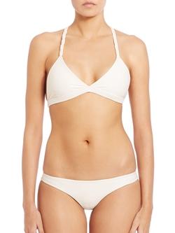 Mikoh Swimwear - Nusa Dua Macrame Racerback Bikini Top