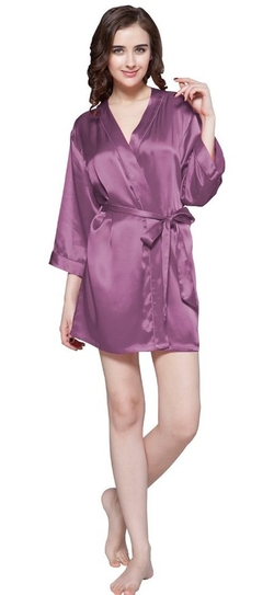 LilySilk - Momme Mini-Cut Silk Robe