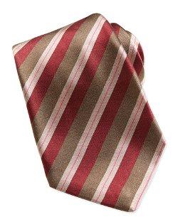 Kiton   - Woven Dark-Stripe Tie