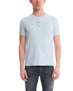 Vince - Short Sleeve Slub Henley Shirt