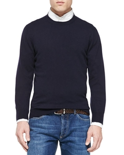 Brunello Cucinelli  - Cashmere Crewneck Pullover Sweater