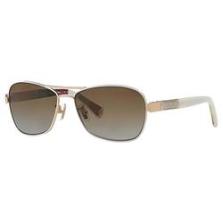 Coach - Caroline White Aviator Sunglasses