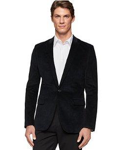 Calvin Klein  - Slim-Fit Velvet Tuxedo Jacket
