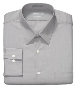 Van Heusen  - Fitted Poplin Solid Dress Shirt