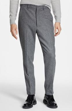 AMI Alexandre Mattiussi  - Carrot Fit Wool Trousers