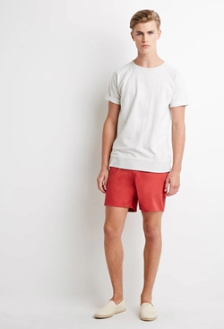 21 Men - Drawstring Chino Shorts