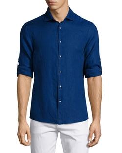 Michael Kors - Linen Roll-Tab Sport Shirt