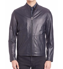 Saks Fifth Avenue Collection - Zipper Leather Jacket