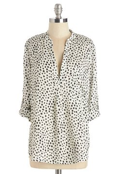 Mod Cloth - Whole Lotta Spots Top