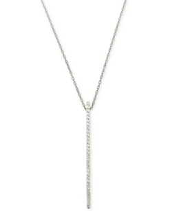 Wrapped in Love - Diamond Linear Pendant Necklace