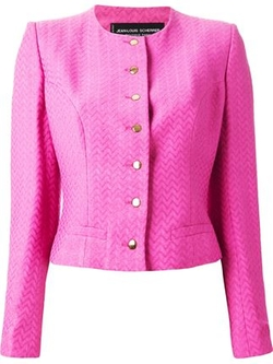 Jean Louis Scherrer Vintage  - Chevron Jacquard Cropped Jacket
