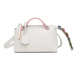 Fendi - By The Way Mini Crystal-Tail Satchel Bag